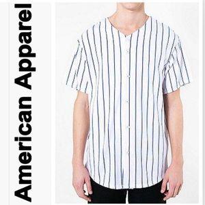 American Apparel Stripe Baseball Tee